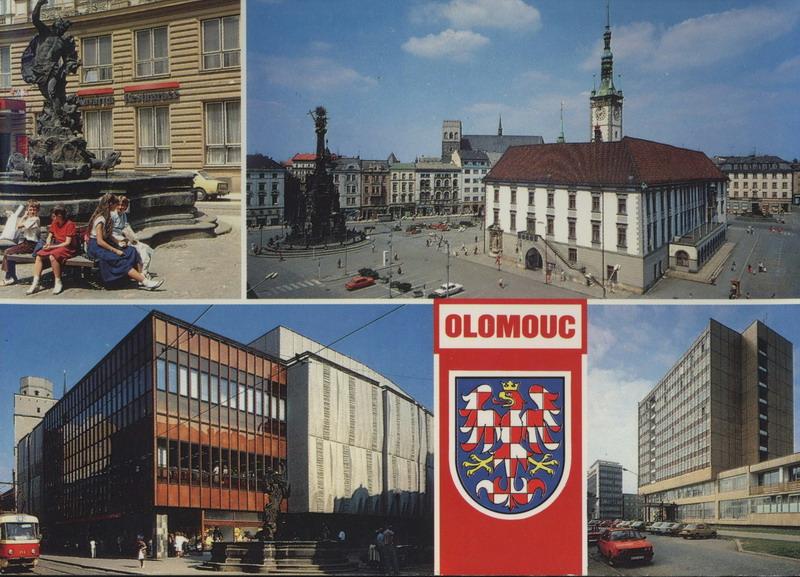 Olomouc merkurova kašna náměstí míru obchodní dům prior